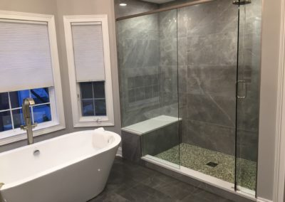 Bathroom Remodel Dura Supreme Cabinetry Prcolainosa freestanding tub 9-14-17 (1)