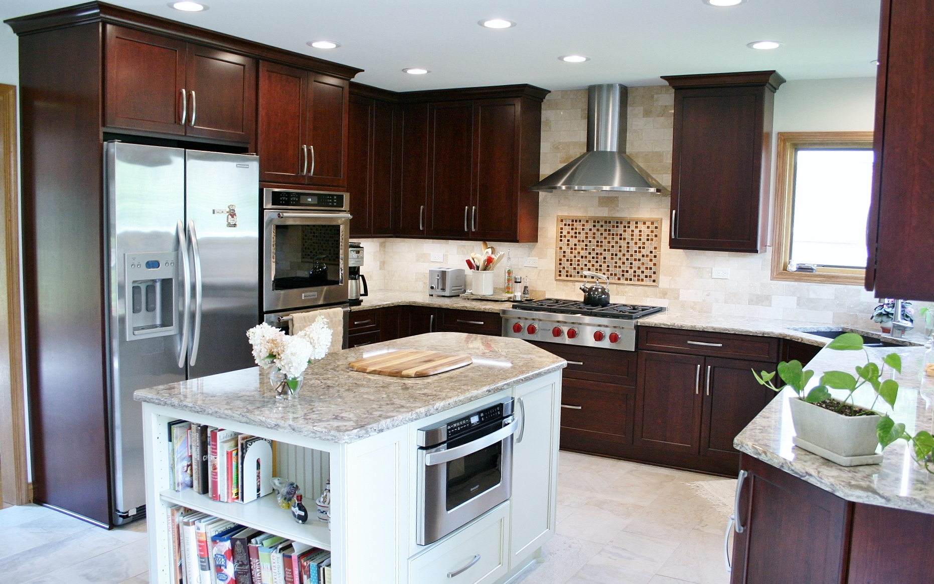 Park Ridge Holiday Kitchen Cabinetry Cambria Counters Wolf Range Top  9 14 17 (